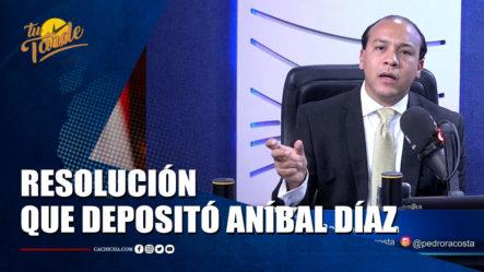 Pedro Acosta Habla Sobre La Resolución Que Deposito Aníbal Díaz   Tu Tarde By Cachicha