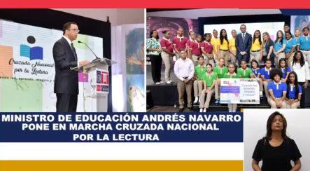 """El Ministro De Educación, Andrés Navarro, Pone En Marcha La """"Cruzada Nacional Por La Lectura"""""""