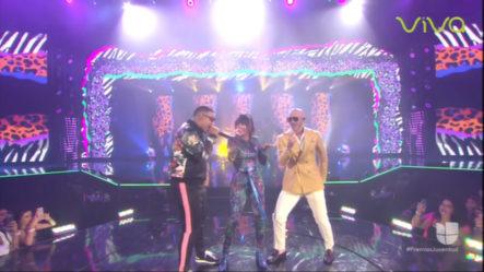 Presentación De Daddy Yankee Ft Natti Natasha Y Pitbull En Premios Juventud