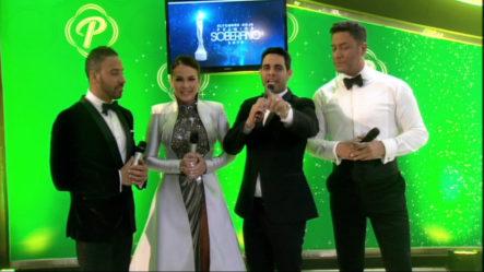 Entrevista Conductores Alfombra Premios Soberano En El Pre-Show