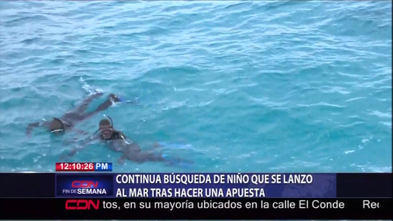 Continúa La Búsqueda De Un Niño Que Se Lanzó Al Mar Tras Hacer Una Apuesta Con Unos Amiguitos