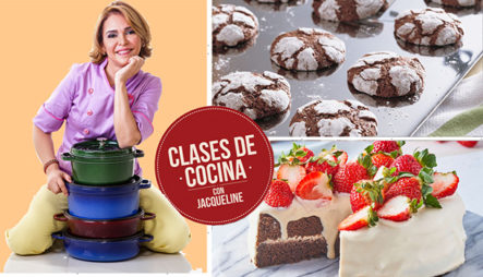 Pastel De Chocolate Con Crema Montada Con Fresas Y Galletas Craqueladas | Clases De Cocina