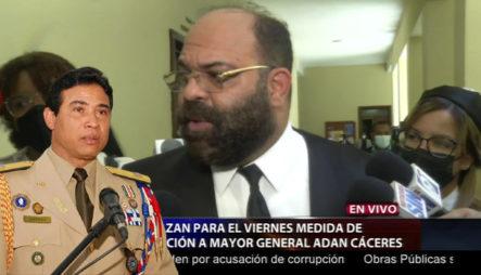 Aplazan Para Este Viernes El Conocimiento De Medida De Coerción Al General Adan Cáceres