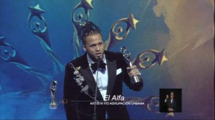 El Alfa Gana Renglón Artista Y/o Agrupación Urbana Del Año En Premios Soberano 2019