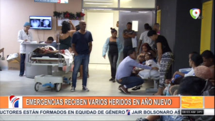 Emergencias Reciben Varios Heridos En Año Nuevo