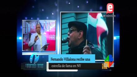 Faraduleando: Fernando Villalona Recibe Una Estrella De Fama En NY