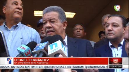 Leonel Fernández Reacciona Ante El Discurso Del Presidente Medina