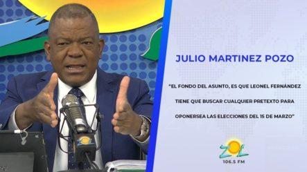 Julio Martínez Acusa A Leonel Fernández De Querer Sabotear Las Próximas Elecciones