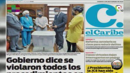 Infórmate Con Las Portadas De Los Principales Periódicos De Hoy 11 De Septiembre Del 2020