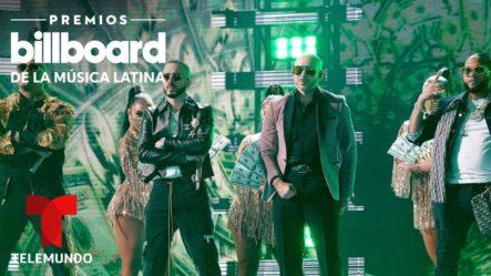 Presentación Musical Del Alfa Junto A Pitbull, Wisin & Yandel En Los Premios Billboard