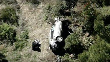 EN VIVO: Imágenes De La Escena Del Grave Accidente De Auto Que Sufrió El Golfista Tiger Woods