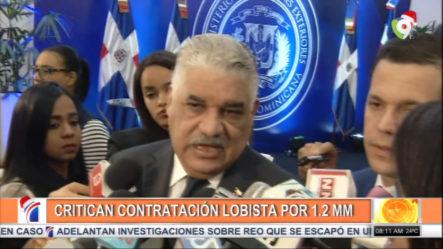 Miguel Vargas Afirma Que La Contratación De Un Lobista Es Algo Normal En Las Funciones Del Estado