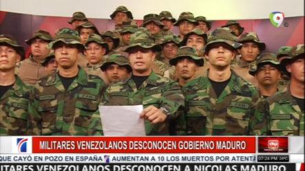 Un Grupo De Militares Venezolanos En Perú Desconocen El Gobierno De Maduro