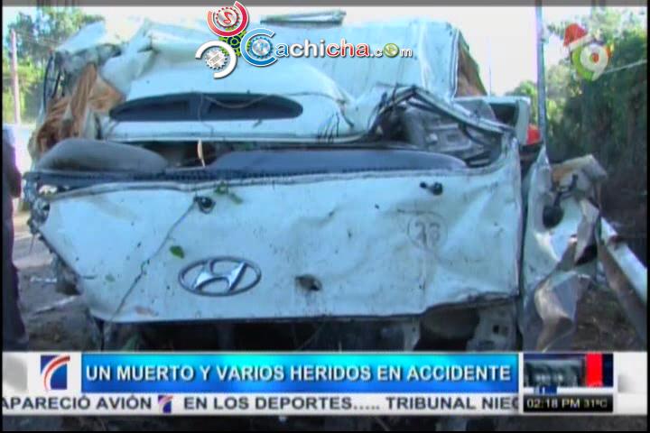 1 Muerto Y 3 Heridos En Accidente De Autobús Que Chocó Con Muro #Video