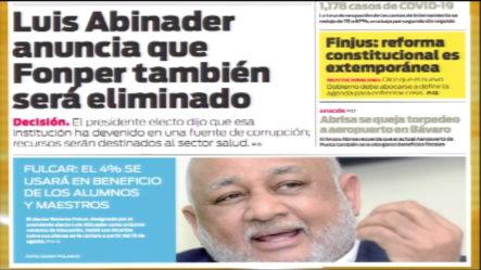 Infórmate Con Las Portadas De Los Principales Diarios De Hoy 05 De Agosto Del 2020