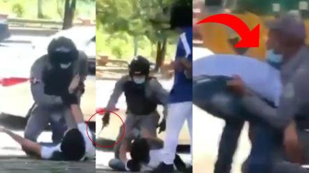 """Policía """"se Va A La' Trompá"""" Con Civiles Que No Quieren Ser Apresados"""