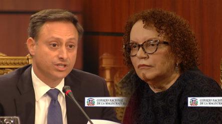 Enfrentamiento Entre El Procurador Y Jueza Miriam Germán Brito