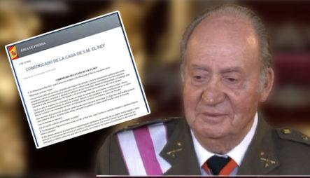 Rey Emérito Juan Carlos Anuncia Que Abandonará España