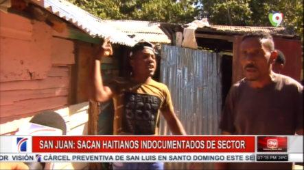 Moradores En San Juan Sacan A Las Fuerzas A Haitianos Indocumentados De Un Sector