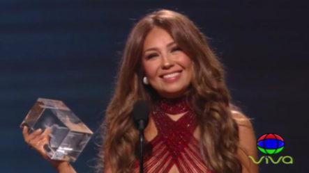 Thalia Recibe El Premio A La Presidencia En Los Latin Grammys