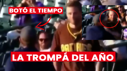 """Hombre """"Bota El Tiempo De Una Trompá"""" ¡Y De Qué Manera!"""