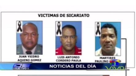La PN Anunció Fueron Detenidos Tres Hombres Vinculados A La Muerte De 3 Personas En La Romana