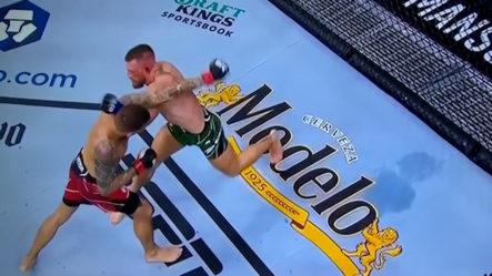Momento En Que El Gran Guerrero Conor McGregor Se Rompe El Tobillo En Pelea Estelar