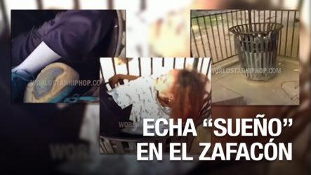 """Mujer Echa Un """"Sueñito"""" En El Zafacón, No Se Sabe Cómo Llegó Ahí"""